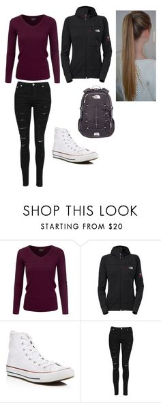 """""""Untitled #86"""" by marialk-1 on Polyvore featuring Converse and The North Face"""