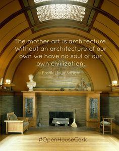 Frank Lloyd Wright Mother Art, Frank Lloyd Wright, Amazing Architecture, Open House, Cork, Social Media, News, Design, Home Decor
