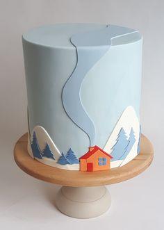 Christmas Cake Designs, Christmas Cake Decorations, Holiday Cakes, Christmas Desserts, Christmas Baking, Christmas Cookies, Fondant Cake Designs, Fondant Flower Cake, Cupcake Cakes