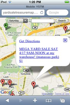 Locate Local Yard Sales Lets Have A Yard Sale Pinterest - Garage sale treasure map