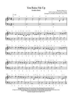 You Raise Me Up by Josh Groban Piano Sheet Music | Rookie Level #SimplePianoTutorials