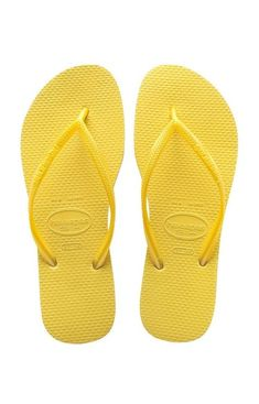 f688cb81316ea Havaianas Slim Light Yellow Brazil s original and authentic flip-flop in a  special design for ladies. An ultra-feminine Havaianas model with thinner