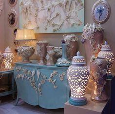 #lamps #furniture #medallions #vases Index Dubai 2014
