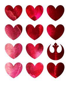 Star Wars Rebel Alliance Valentine Art Print