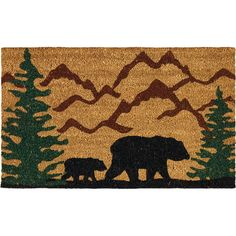Perfect whether you're in the mountains or the suburbs, this charming doormat greets guests in whimsical style.