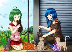 Aoi and Haru from Paigeeworld: Check the owner account here : https://www.paigeeworld.com/post/577fc2ab7129b6340ebb228b/summermemories-paigeeworldocs-aoi-haru-cat-drawing-by-renealexa