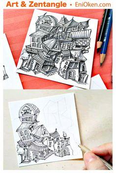 Little funky Zen-ful houses • enioken.com