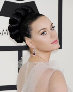 KATY PERRY at 2014 Grammy Awards in Los Angeles - updo!