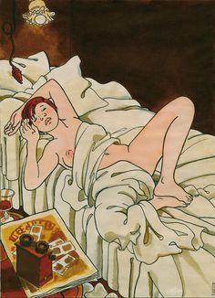Tardi – Adèle Blanc-Sec Comics Toons, Bd Comics, Adele, Illustrations, Illustration Art, Cosmic Comics, Bilal, How To Make Drawing, Ligne Claire
