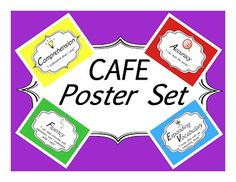 FREE Colorful CAFE Posters for the Daily 5