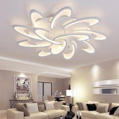 LICAN Modern LED Ceiling Chandelier Light White Black Chandeliers Fixtures For Living Room Bedroom Dining Study Room Warm heads White body lighting House Ceiling Design, Ceiling Design Living Room, Bedroom False Ceiling Design, Bedroom Ceiling, Living Room Lighting, Living Room Designs, Living Room Decor, Foyer Lighting, Lights For Living Room