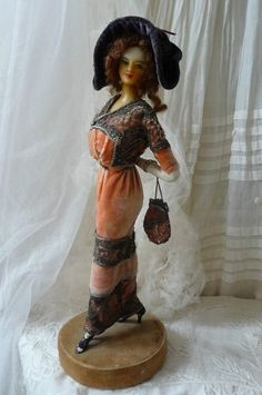 Antique Boudoir Doll Victorian Doll Wax Lafitte Desirat Fashion Doll Paris 1911 | eBay