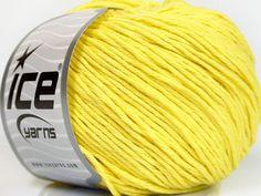 Fiber Content 60% Bamboo 40% Cotton Yellow Brand Ice Yarns Yarn Thickness 3 Light DK Light Worsted fnt2-50668