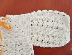 Este modelo de casaquinho é um clássico. Foi uma das primeiras peças que aprendi fazer em crochê. Já perdi a conta de ...