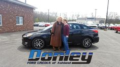 We would like to thank Tamara C. for taking the time to come see us at Donley Ford Lincoln of Ashland. We hope you love your 2016 Ford Focus. We look forward to seeing you again. #DiscovertheDonleyDifference