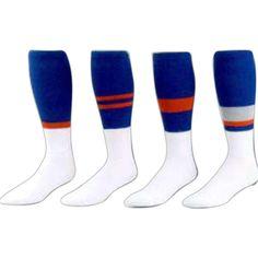 Custom 80% Acrylic / 20% Nylon striped football sock. Priced per pair.