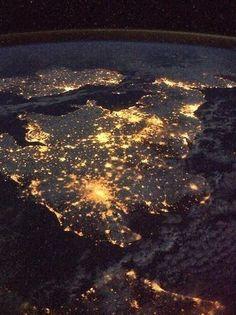 Britain at night
