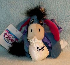 Disney Christmas Mini Bean Bag Sugar Plum Fairy Winnie the Pooh's EEYORE Plush  #Disney