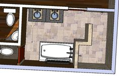 Doorless shower design - consider for master bath?  Not crazy about this configuration; just putting it out there