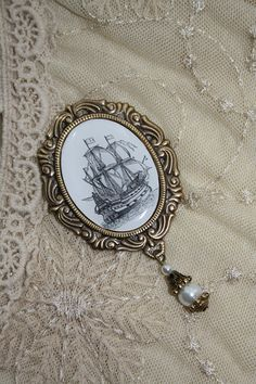 Pirate ship brooch  141kr  https://www.etsy.com/listing/46102189/pirate-ship-brooch-clipper-ship-pirates?ref=shop_home_active_13