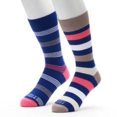 Kohls Funky Socks 2-pack Striped Crew Socks - Men