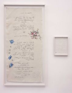 Tracey Emin Those Who Suffer Love (Im OK now) 2005 Appliqué, embroidery and monoprint on fabric and pen and pencil on paper Visual, Visual Diary, Artist Inspiration, Tracey Emin, Art Inspo, Monoprint, Artwork, Art Major, Textile Art