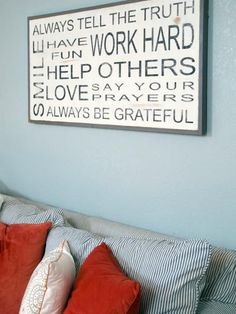 On the Walls: Life Lessons