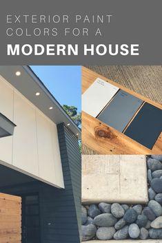Exterior Paint Colors for a Modern House — Hello Crofts Café Exterior, Exterior Paint Schemes, White Exterior Houses, Best Exterior Paint, Craftsman Exterior, Exterior Paint Colors For House, Paint Colors For Home, Modern Exterior, Exterior Design