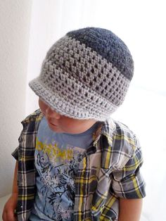 Adorable!  Shades Toddler Boys Crochet Newsboy Hat in by peonychicbaby, $17.50