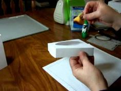 video showing how to make the cardstock tissue box covers.....