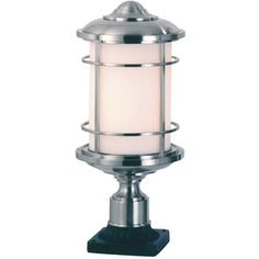 """Feiss Lighthouse Collection 18""""-H Steel Outdoor Post Mount"""