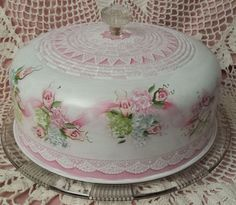 Vintage Tin Cake Saver