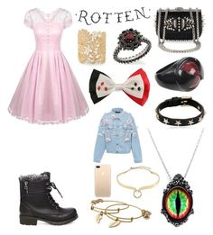 """""""we're believers, I believe tonight"""" by llamapoop ❤ liked on Polyvore featuring Christian Louboutin, Marvel, RED Valentino, GREEN DRAGON, Carla Amorim, Sole Society, Alexis Bittar, Alex and Ani, Anouki and Steve Madden"""