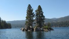 A tiny island at Huntington Lake, CA. Near Cedar Crest Resort where we stayed in 1967 and two other times.