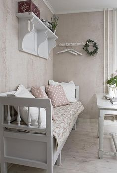 Bench & cushions ~ lovingly repinned by www.skipperwoodhome.co.uk