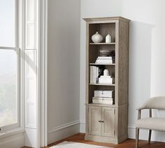 Livingston Bookcase from Pottery Barn. The narrow one for my living room corner