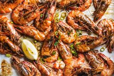 Roasted tiger prawns with fresh leek and lemon by 2enroute  IFTTT 500px