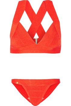 Hervé Léger | Summer bandage bikini | NET-A-PORTER.COM
