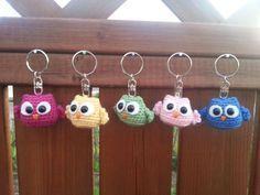 Little owl by Johanna Harjula - Bird - Crochet - Amigurumi Crochet Amigurumi, Amigurumi Patterns, Crochet Toys, Knitting Patterns, Owl Crochet Pattern Free, Crochet Keychain Pattern, Crochet Bookmarks, Crochet Gifts, Handarbeit