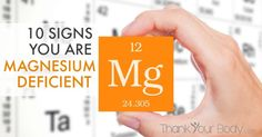 10 Signs You're Magnesium Deficient