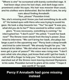 Percy if Annabeth went missing