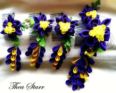 Custom Iris Wedding Party Set 2010 - Thea Starr #kanzashi
