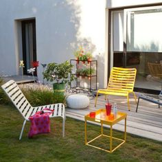 Outdoor furniture with a pop of color