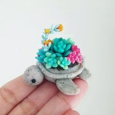 ❤Hearts of Jade . . I had to name this one because I think this succulent turtle has to be my favorite turtle that I've made to date. I added translucent into the clay to give it an almost jewel-like effect, which I adored about the piece. You can swipe to the end to see the 360 video of this little one What do you guys think? Do you love it as much as I do? . . . Etsy Restock this Saturday @5p.m EST