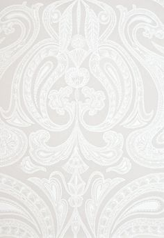 Malabar Wallpaper Light taupe wallpaper with large white Paisley design in white.    www.lab333.com    https://www.facebook.com/pages/LAB-STYLE/585086788169863    http://www.labstyle333.com    www.lablikes.tumblr.com    www.pinterest.com/labstyle