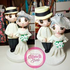 Polymer clay wedding cake topper filipiniana inspired Polymer Clay Cake, Polymer Clay Crafts, Wedding Cake Toppers, Wedding Cakes, Filipiniana, Inspired, Inspiration, Wedding Gown Cakes, Biblical Inspiration