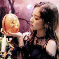 Irene red velvet Really bad boy HQ Seulgi, Red Velvet Irene, Velvet Fashion, Thing 1, Black Ruffle, Kpop Fashion, Korean Girl, Christmas Bulbs, Photoshoot