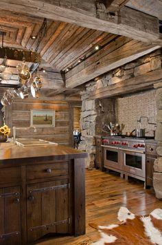 Ranch Rustic Kitchen Brilliant Design Idea