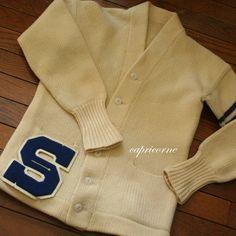 1950 Letterman Sweaters | vintage LETTER SWEATER cardigan1950's letterman WOOL retro school