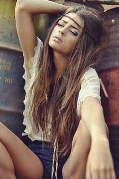 The hair, the headband, the olive skin tone reminds me of you, @Jess Liu Mireles. <3